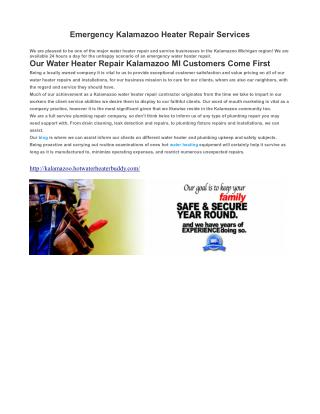 Emergency Water Heater Repair Kalamazoo