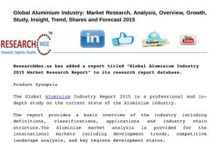 Global Aluminium Industry 2015 Market Research Report