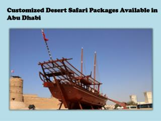 Customized Desert Safari Packages