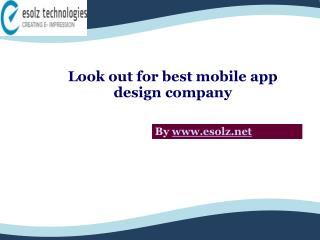Best Mobile App Design Company To Opt