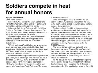 Soldiers compete in heat  for annual honors
