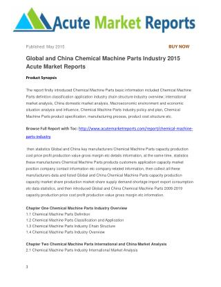 Global and China Chemical Machine Parts Industry 2015 Acute Market Reports