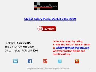 Global Rotary Pump Market 2015-2019