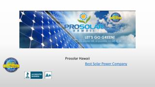 Solar Power company Hawaii