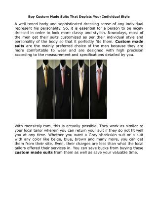 Get Custom Made Affordable Suits