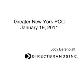 Greater New York PCC    January 19, 2011