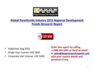 Global Pyrethroids Market 2015 Regional Development Trends Research