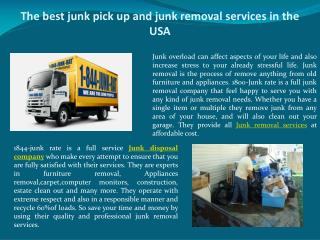 The best junk pick up and junk removal services in the USA