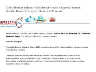 Global Biochar Industry 2015 Market Research Report