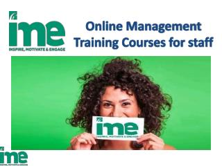 Online Management Training Courses for staff