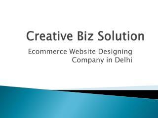 Website Design Company in Delhi – Creative Biz Solution