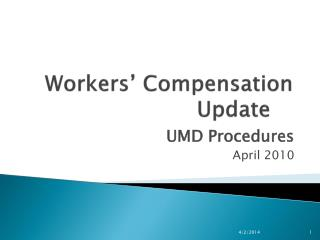 Workers  Compensation Update