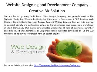 Web Services Company in Delhi