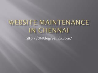 Website Maintenance in chennai,