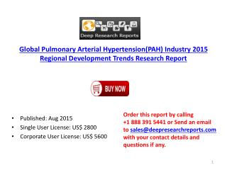 Global Pulmonary Arterial Hypertension Market Forecasts Research Report 2020