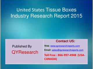 United States Tissue Boxes Market 2015 Industry Analysis, Forecasts, Research, Shares, Insights, Growth, Overview and Ap