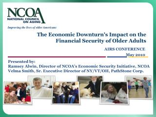 The Economic Downturns Impact on the Financial Security of Older Adults