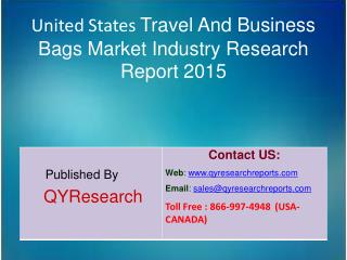 United States Travel And Business Bags Market Market 2015 Industry Analysis, Shares, Insights, Forecasts, Applications,