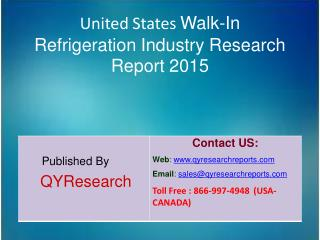 United States Walk-In Refrigeration Market 2015 Industry Shares, Research, Analysis, Applications, Forecasts, Growth, In