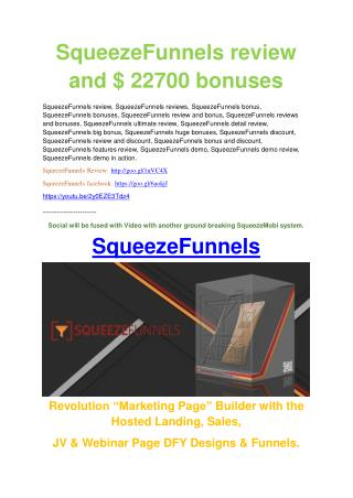 Squeeze Funnels review -(SHOCKED) $21700 bonuses