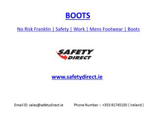 No Risk Franklin | Safety | Work | Mens Footwear | Boots | safetydirect.ie