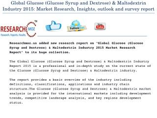 Global Glucose (Glucose Syrup and Dextrose) & Maltodextrin Industry 2015 Market Research Report