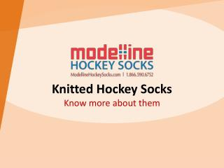 Knitted Hockey Socks