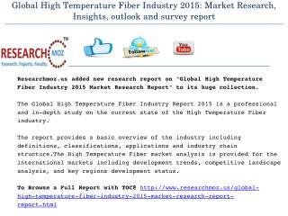 Global High Temperature Fiber Industry 2015 Market Research Report