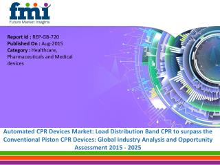 Automated CPR Devices Market to Grow at a CAGR of 11% between 2014 and 2025