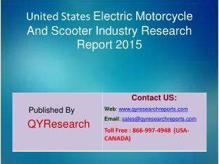United States Electric Motorcycle And Scooter Market 2015 Industry   Trends, Overview, Share, Forecast, Growth, Analysis