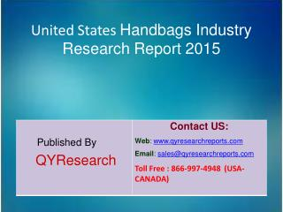 United States Handbags Market 2015 Industry   Forecast, Share, Analysis, Growth, Overview, Research and Trends