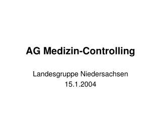 AG Medizin-Controlling