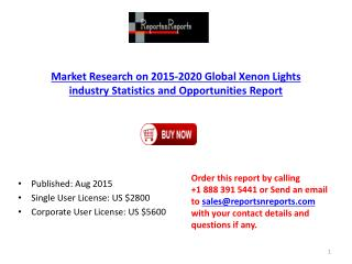 2015-2020 Global Xenon Lights industry Statistics and Opportunities Report