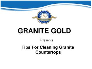 Tips For Cleaning Granite Countertops