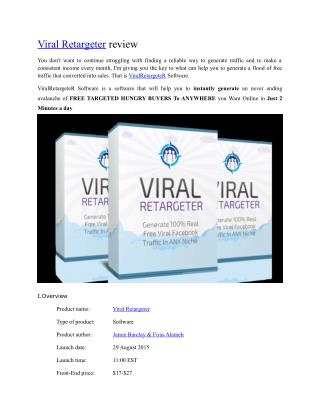 Viral Retargeter Review
