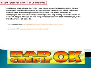 loans for unemployed@ www.dolphinpaydayloans.com/same-day-loans-for-unemployed