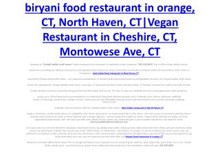 Desi food restaurant in East Haven, CT, North ford, CT |Vegetarian Restaurants in North Haven, CT