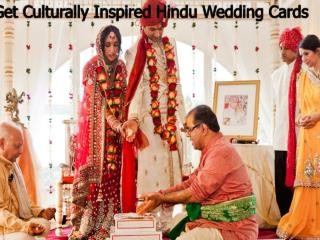 Get Culturally Inspired Hindu Wedding Cards.