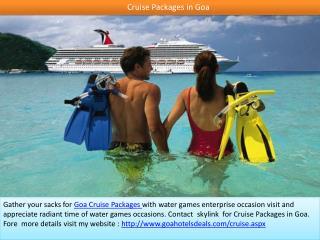 Cruise in Goa