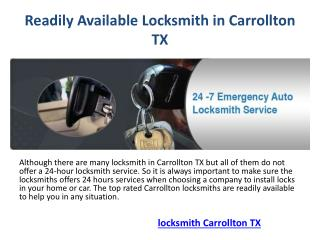 Locksmith Carrollton TX