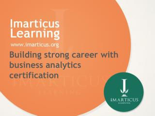 Building strong career with business analytics certification