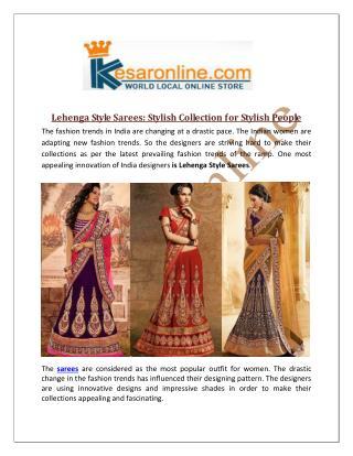 Lehenga Style Saree Online Shopping In United States