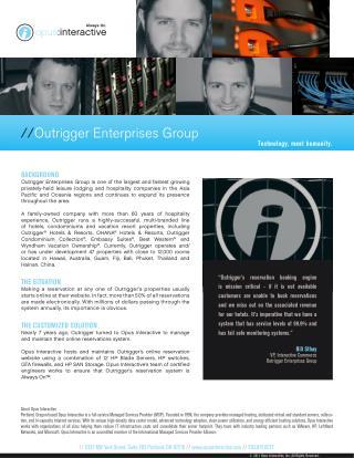 Opus Interactive -  Outrigger Enterprises Group
