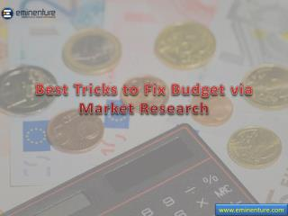 Best Tricks to Fix Budget via  Market Research