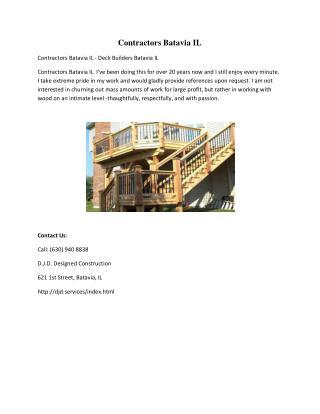Contractors Batavia IL