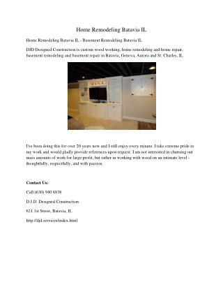 Home Remodeling Batavia IL