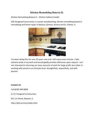 Kitchen Remodeling Batavia IL