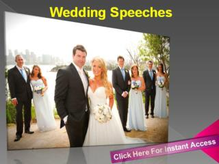 Wedding Speeches on Wedding Day are Always Heartily Special for Everyone