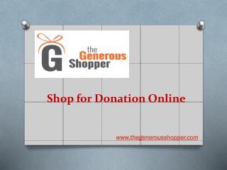 Fundraising Shops