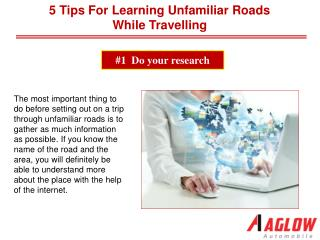 5 Tips for Learning Unfamiliar Roads While Travelling